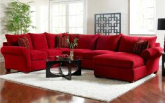 Red Microfiber Sectional Sofas