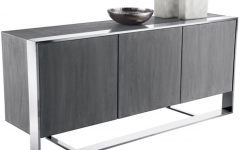 Grey Wooden Accent Buffets
