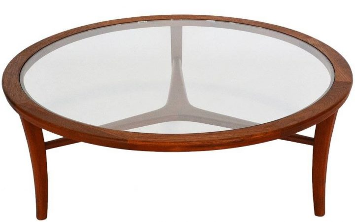 Retro Teak Glass Coffee Tables