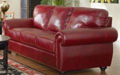 Dark Red Leather Sofas
