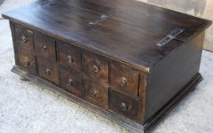 Dark Wood Chest Coffee Tables