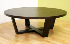 Dark Wood Round Coffee Tables