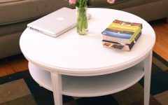 White Wood Round Coffee Table