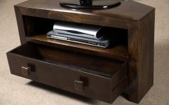 Dark Wood Corner Tv Cabinets
