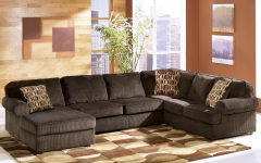 Ashley Furniture Brown Corduroy Sectional Sofas