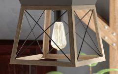 Delon 1-light Lantern Geometric Pendants