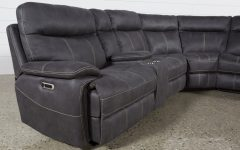 Denali Charcoal Grey 6 Piece Reclining Sectionals with 2 Power Headrests