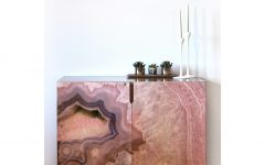 Pale Pink Agate Wood Credenzas