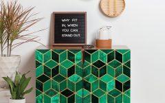 Emerald Cubes Credenzas