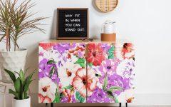 Purple Floral Credenzas