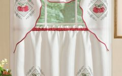 Red Delicious Apple 3-piece Curtain Tiers