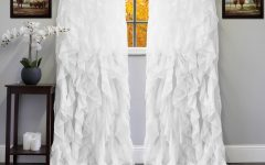 Chic Sheer Voile Vertical Ruffled Window Curtain Tiers