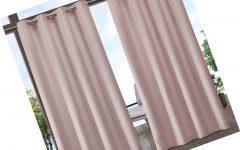 Indoor/outdoor Solid Cabana Grommet Top Curtain Panel Pairs