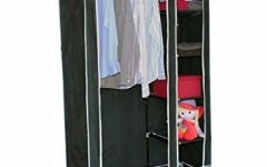 Double Black Covered Tidy Rail Wardrobes