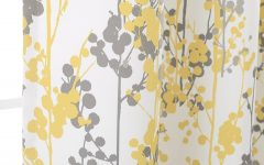Floral Blossom Ink Painting Thermal Room Darkening Kitchen Tier Pairs
