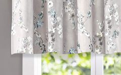 Floral Pattern Window Valances