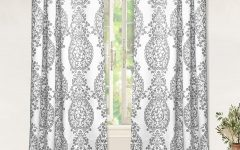 Pastel Damask Printed Room Darkening Kitchen Tiers