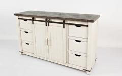 "43.97"" Wide Pine Wood Drawer Servers"