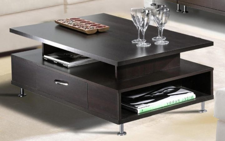Modern Coffee Tables with Storage Detail