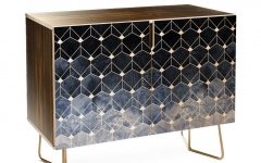 Blue Hexagons and Diamonds Credenzas