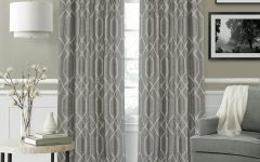 Geometric Linen Room Darkening Window Curtains