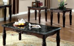3 Piece End Table Coffee Table Sets