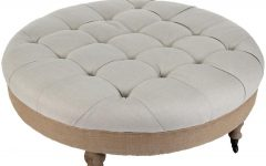 Round Fabric Ottoman Coffee Tables
