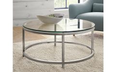 Round Glass Coffee Table Decor