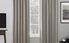 Evelina Faux Dupioni Silk Extreme Blackout Back Tab Curtain Panels
