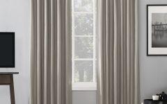 Evelina Faux Dupioni Silk Extreme Blackout Back Tab Curtain Panels
