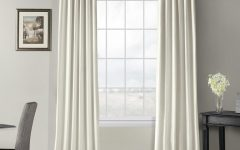 Off-White Vintage Faux Textured Silk Curtains
