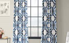 Mecca Printed Cotton Single Curtain Panels