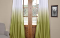 Ombre Faux Linen Semi Sheer Curtains