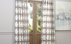 Grey Printed Curtain Panels