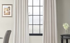 Signature Ivory Velvet Blackout Single Curtain Panels