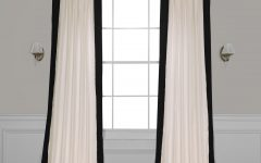 Vertical Colorblock Panama Curtains
