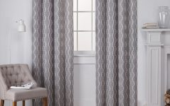 Baroque Linen Grommet Top Curtain Panel Pairs