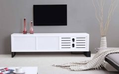 Long White Tv Cabinets