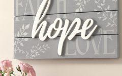 Faith, Hope, Love Raised Sign Wall Decor