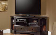 Dark Brown Corner Tv Stands
