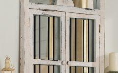 Faux Window Wood Wall Mirrors