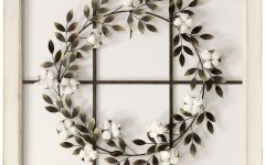 Floral Wreath Wood Framed Wall Decor