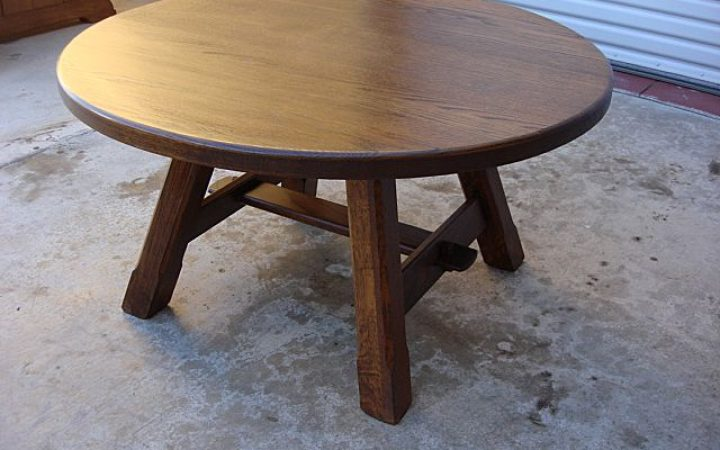 DIY Small Round Coffee Table Rustic