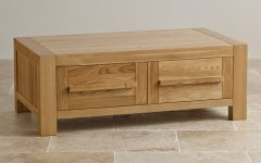 Solid Oak Coffee Table With Storage