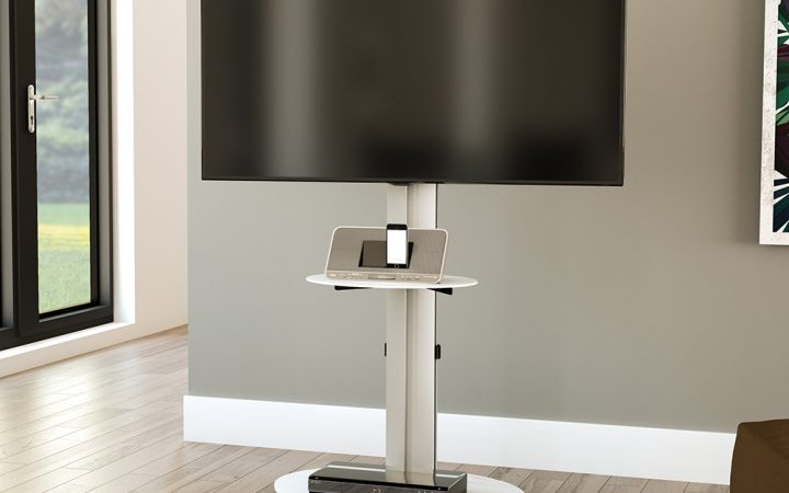 Oval White Tv Stand