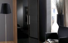 High Gloss Black Wardrobes