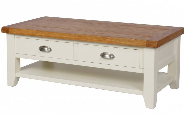 Cream Coffee Tables With Drawers