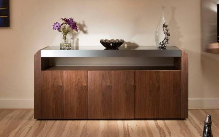 Walnut and Black Sideboards