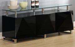 High Gloss Black Sideboards