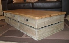 Low Coffee Tables With Drawers